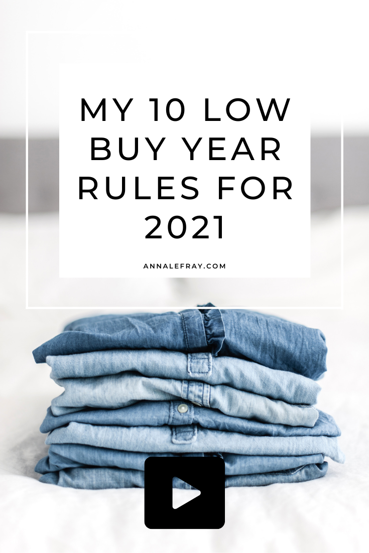 I give you my 10 low buy year rules for 2021