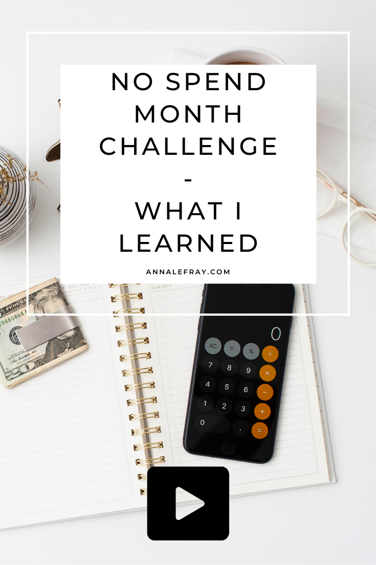 How I survived a whole month of no spend challenge