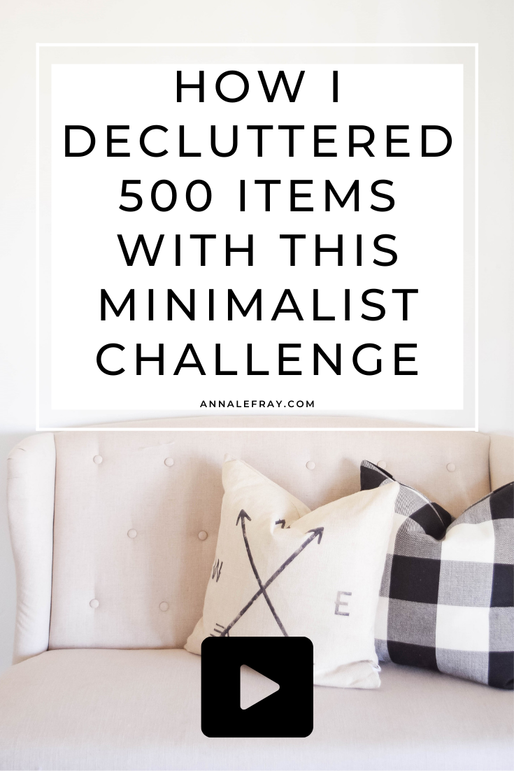 I talk about the 30-day minimalism game and how I decluttered almost 500 items with this challenge and how you can do it too!